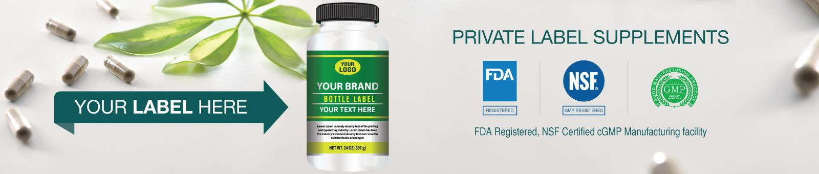 Private Label Supplements Banner